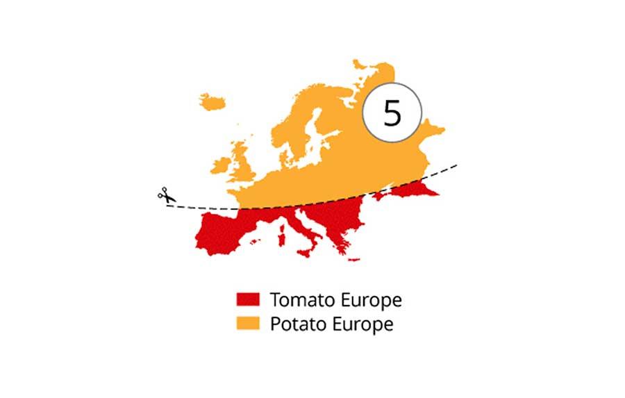 Vorurteils-Schnitte durch Europa