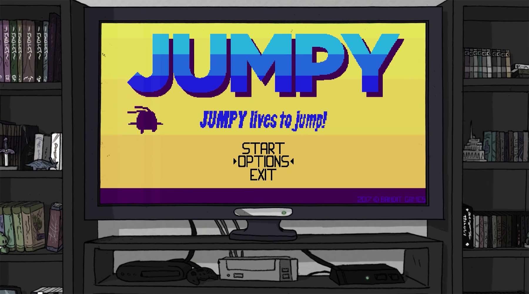 Die Probleme eines Videospielcharakters beim Springen