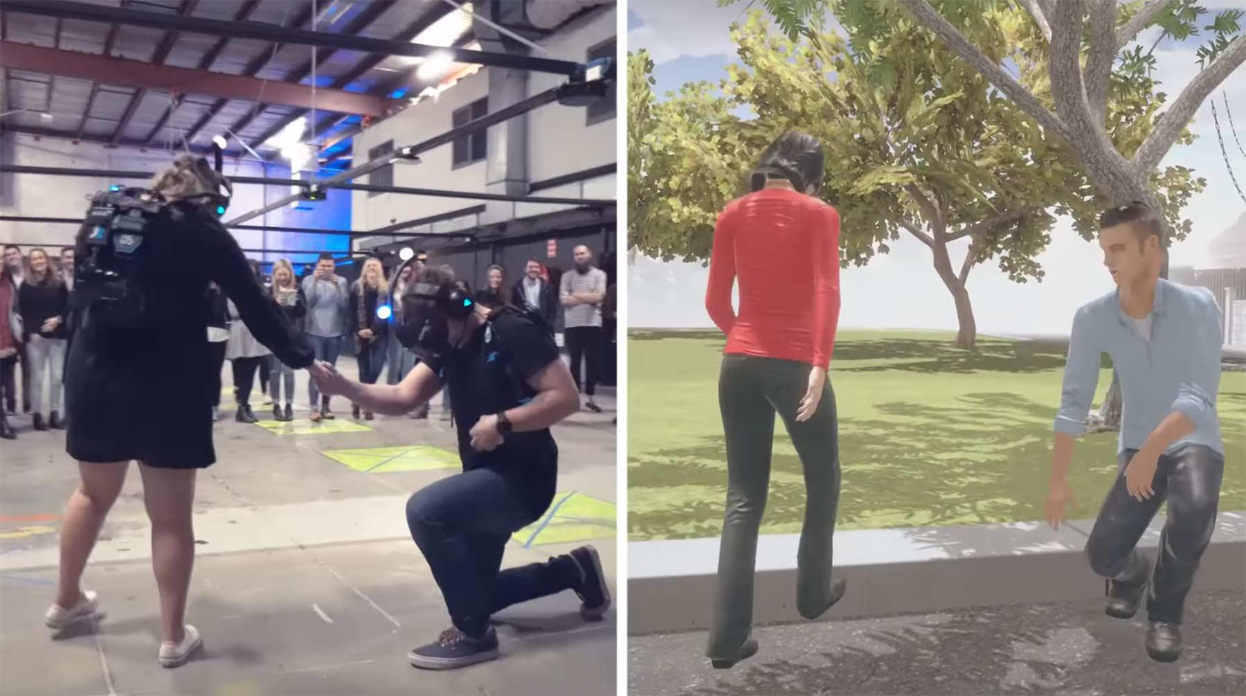 Hochzeitsantrag in der virtuellen Realität