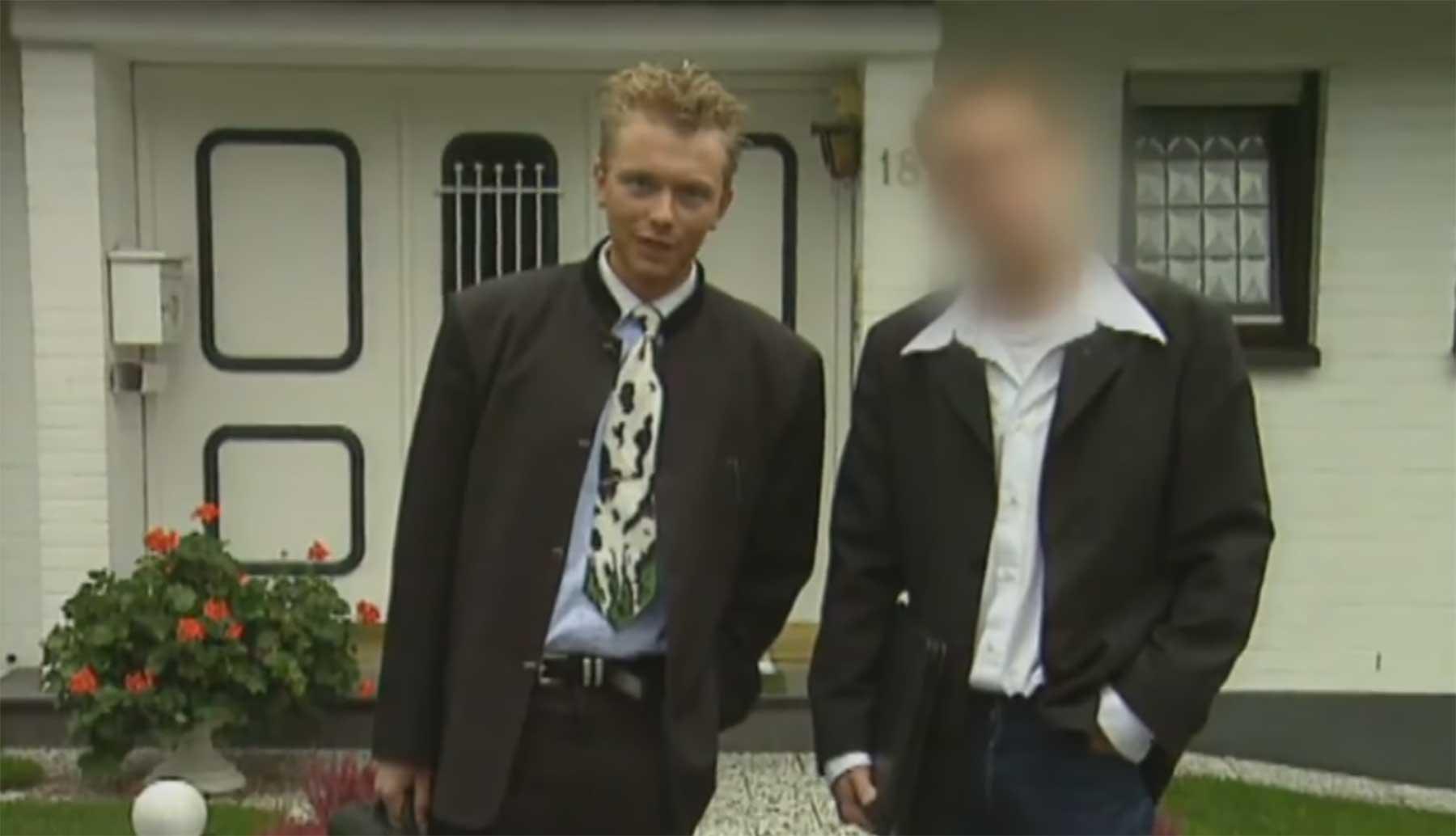 Christian Lindner 1997 als Abiturient im TV