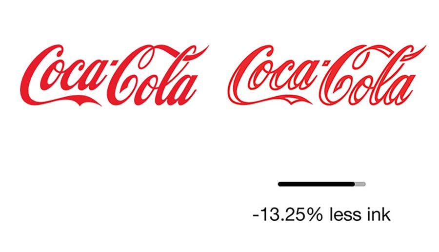Reduzierte Markenlogos zur Einsparung von Druckertinte ecobranding-logos_04