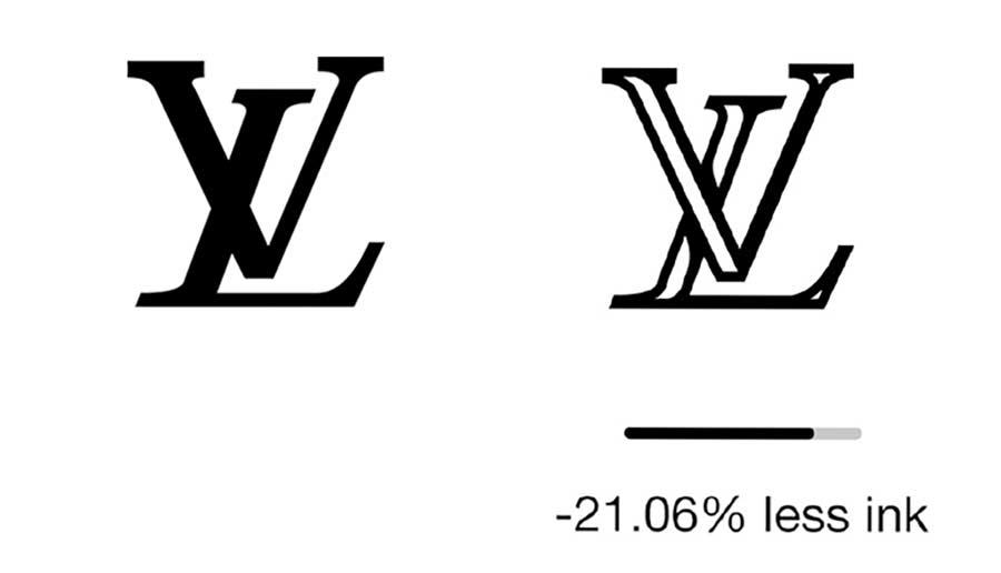 Reduzierte Markenlogos zur Einsparung von Druckertinte ecobranding-logos_06