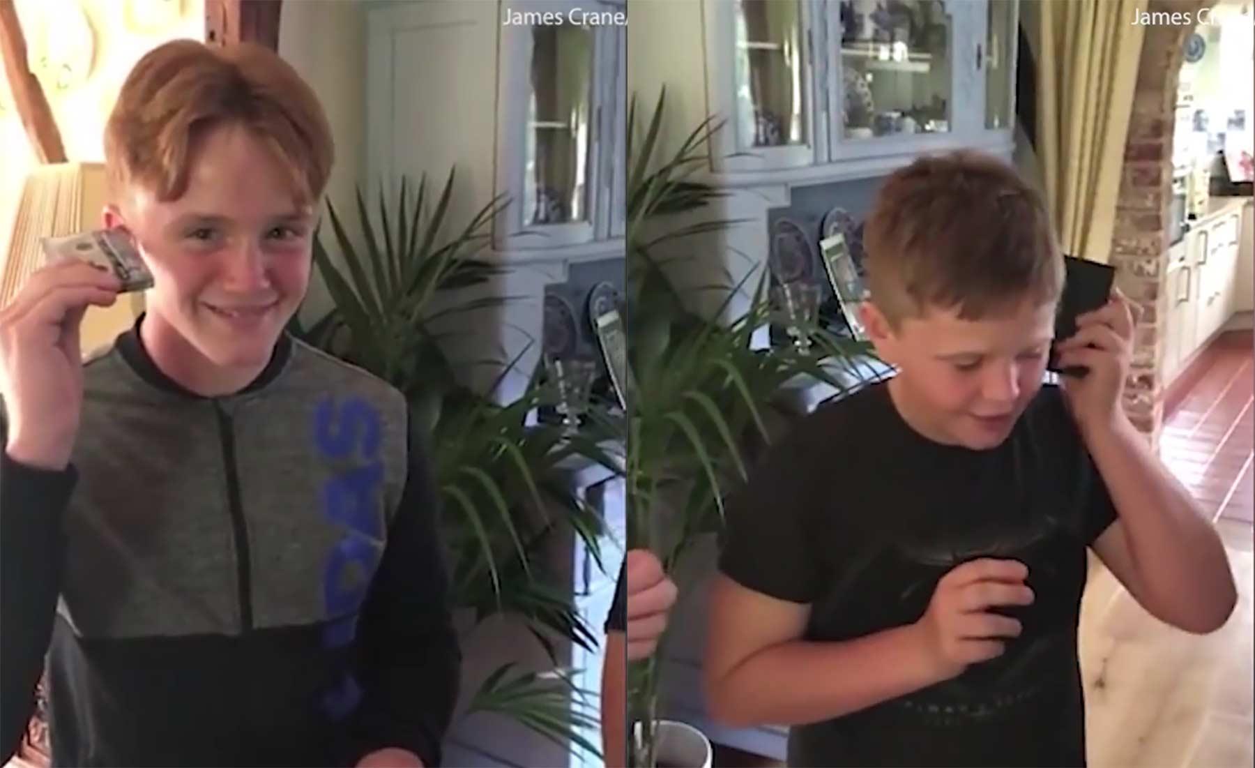 Kids versuchen vergeblich, Musik aus einer Kassette zu bekommen kassetten-fail-kinder