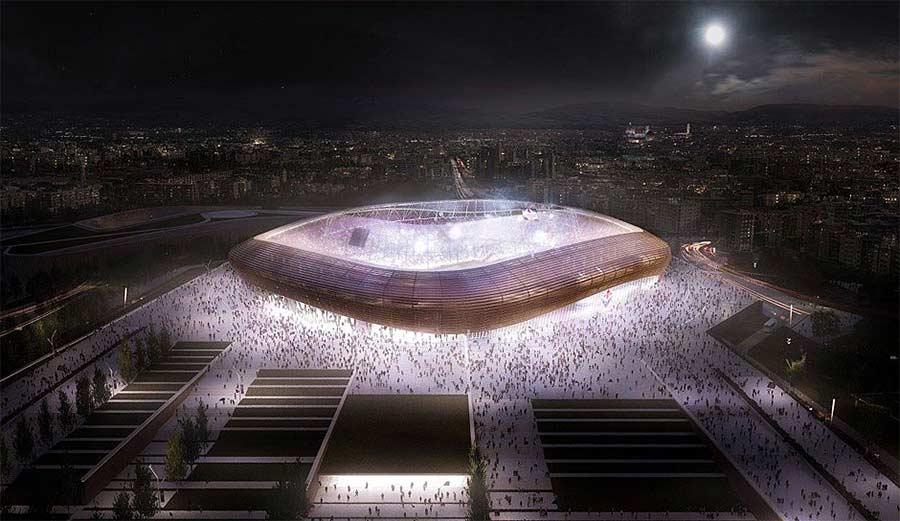 Diese originellen Fußballstadien sind weltweit in Planung