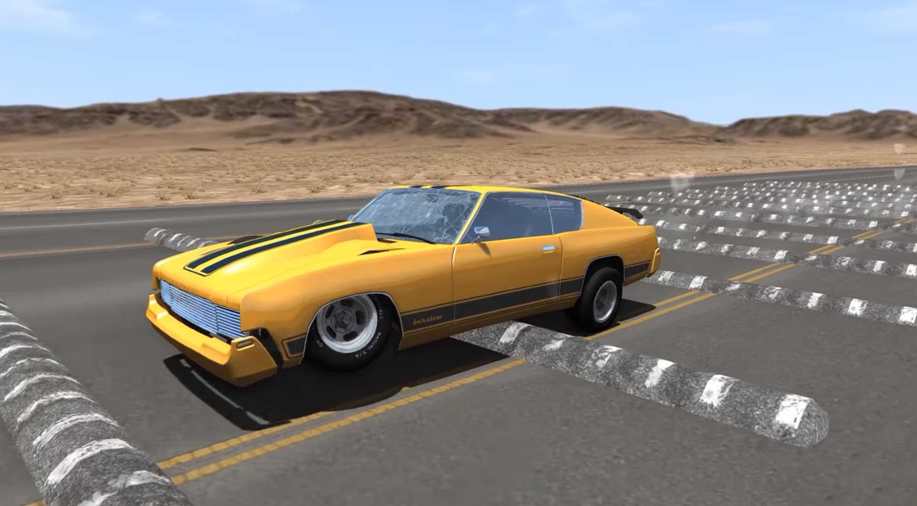 Autos, die über 100 Bremsschweller rasen 100-bremsschweller