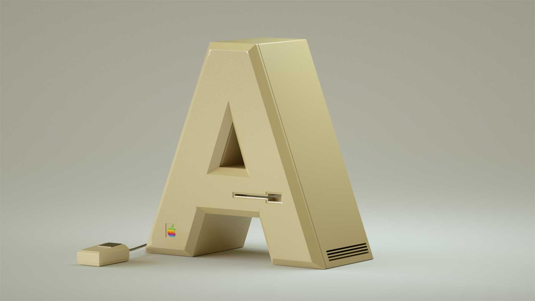 Alphabet aus Elektronik