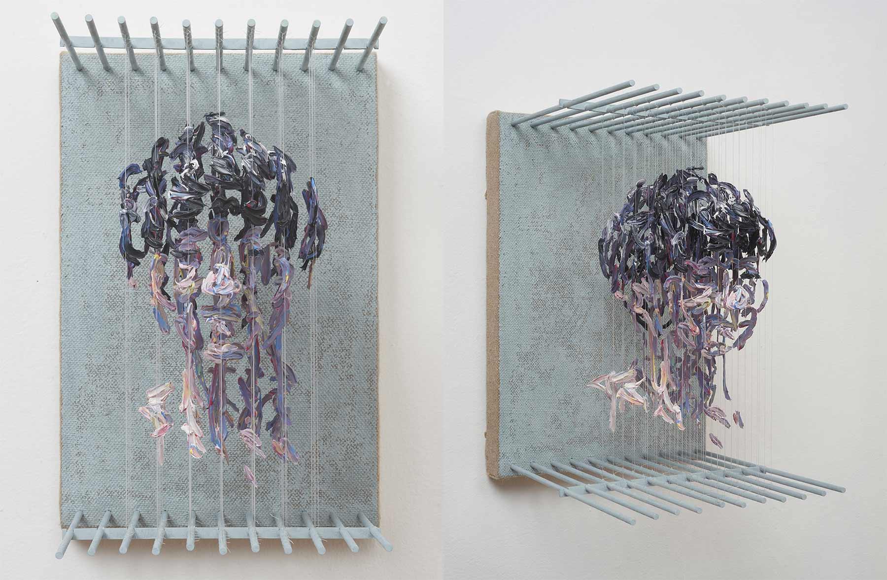3D-Portraits aus abgehangenen Pinselstrichen