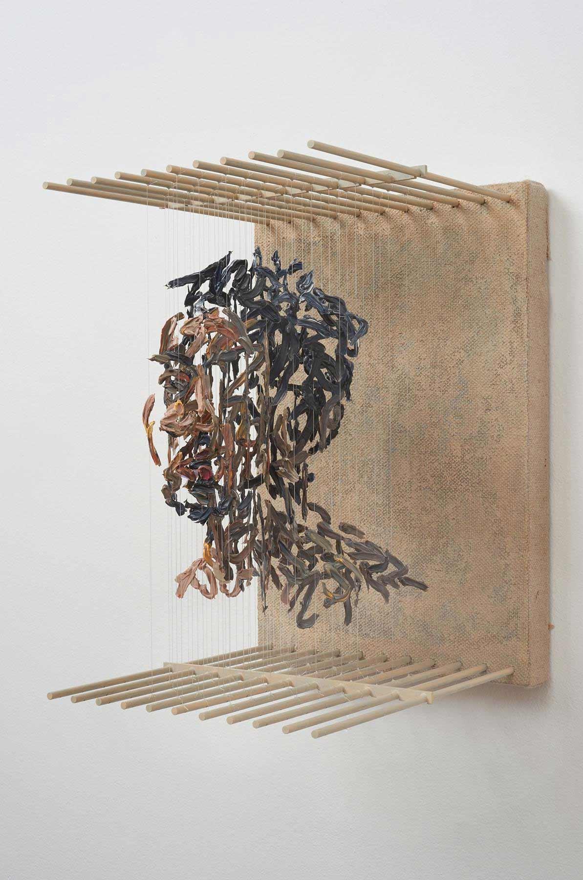 3D-Portraits aus abgehangenen Pinselstrichen 3D-portraits-Chris-Dorosz_03