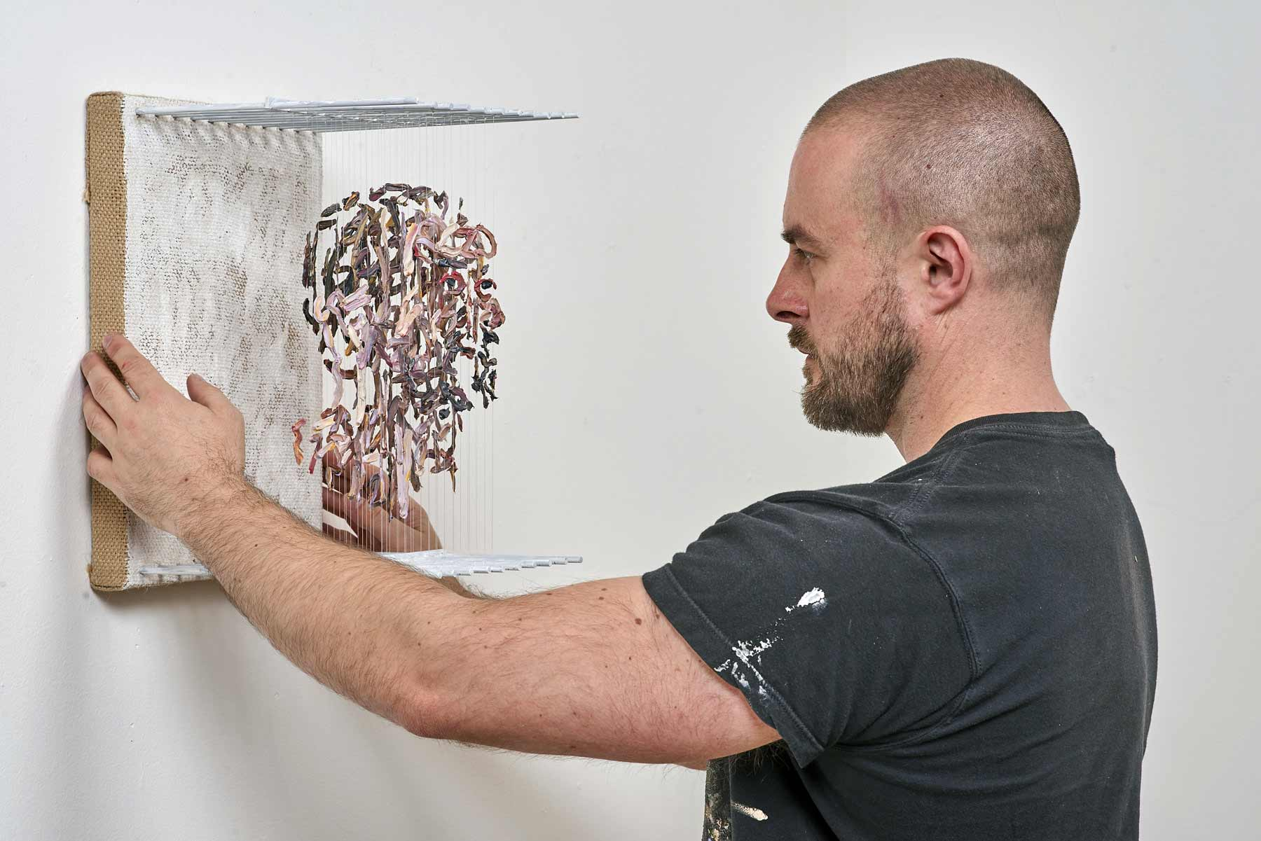 3D-Portraits aus abgehangenen Pinselstrichen 3D-portraits-Chris-Dorosz_06