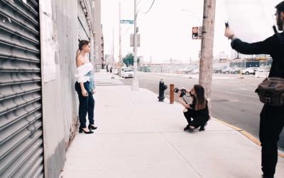 4 FotografInnen 1 Model