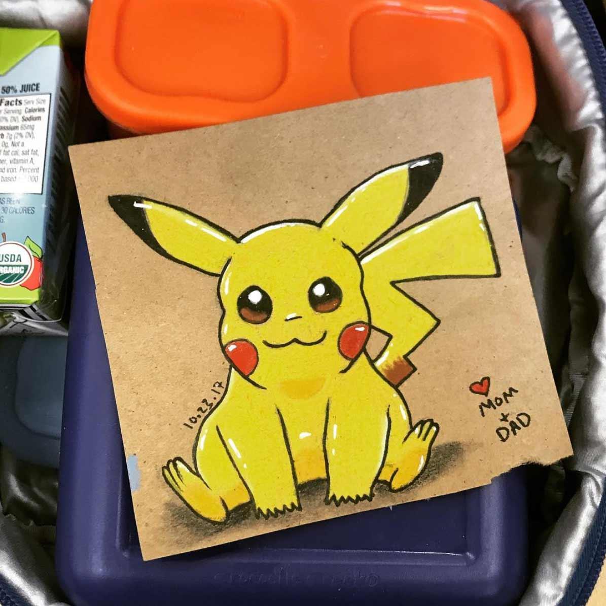 Vater malt seiner Tochter jeden Tag ein Bildchen für die Lunchbox Andre-Guerra_02