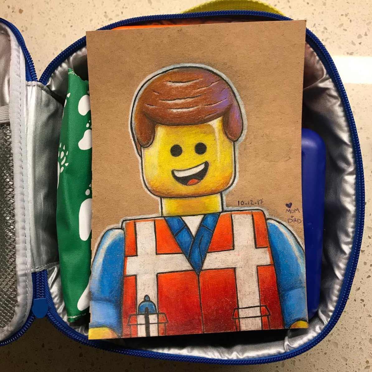 Vater malt seiner Tochter jeden Tag ein Bildchen für die Lunchbox Andre-Guerra_05
