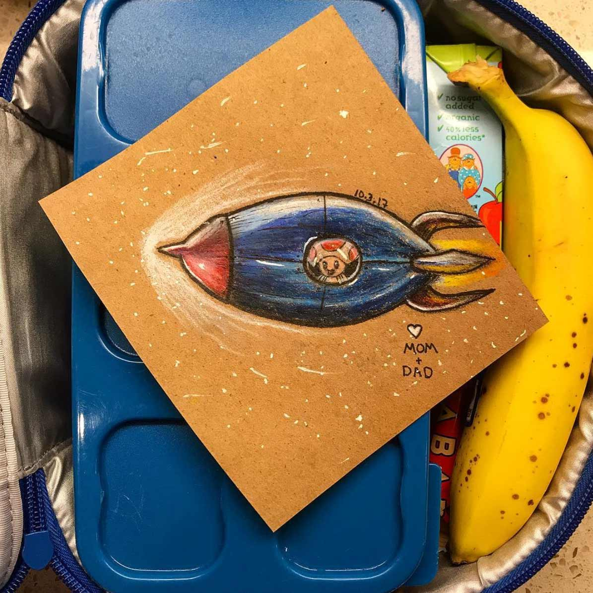 Vater malt seiner Tochter jeden Tag ein Bildchen für die Lunchbox Andre-Guerra_07