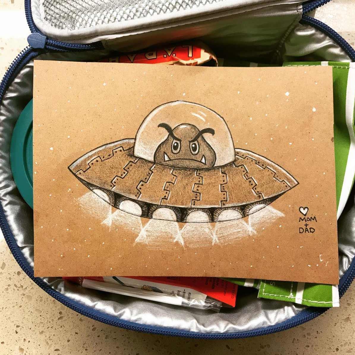 Vater malt seiner Tochter jeden Tag ein Bildchen für die Lunchbox Andre-Guerra_08