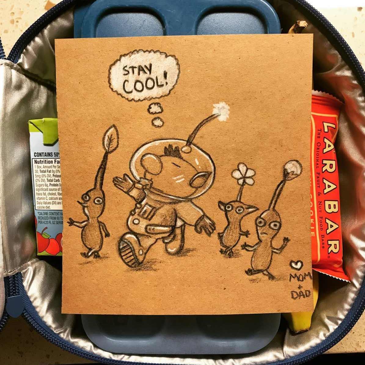 Vater malt seiner Tochter jeden Tag ein Bildchen für die Lunchbox Andre-Guerra_09