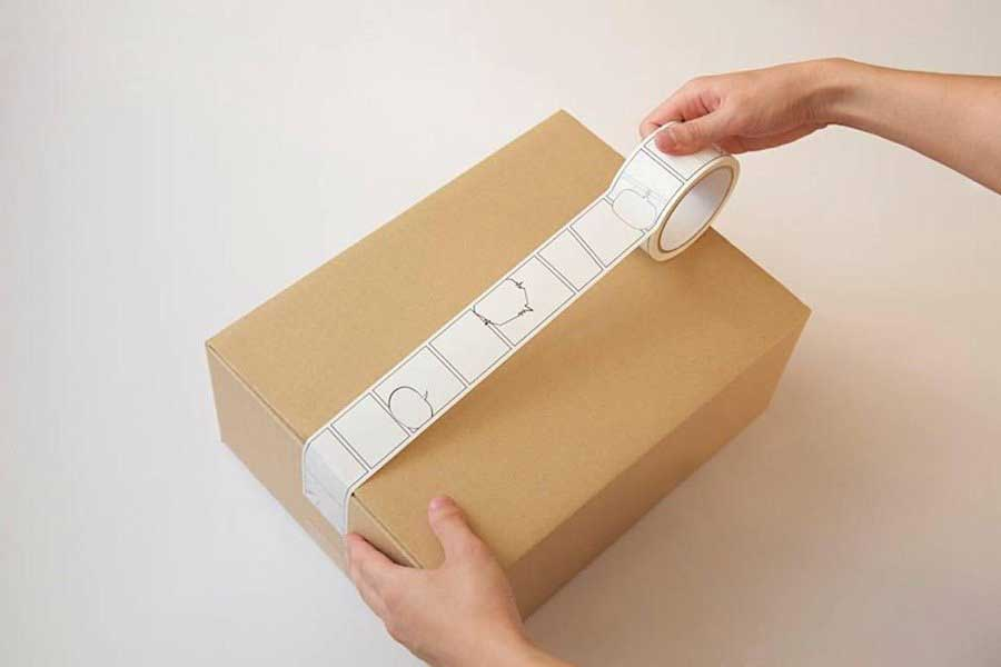Paketband mit Platz für Comics Comicpaketband_02