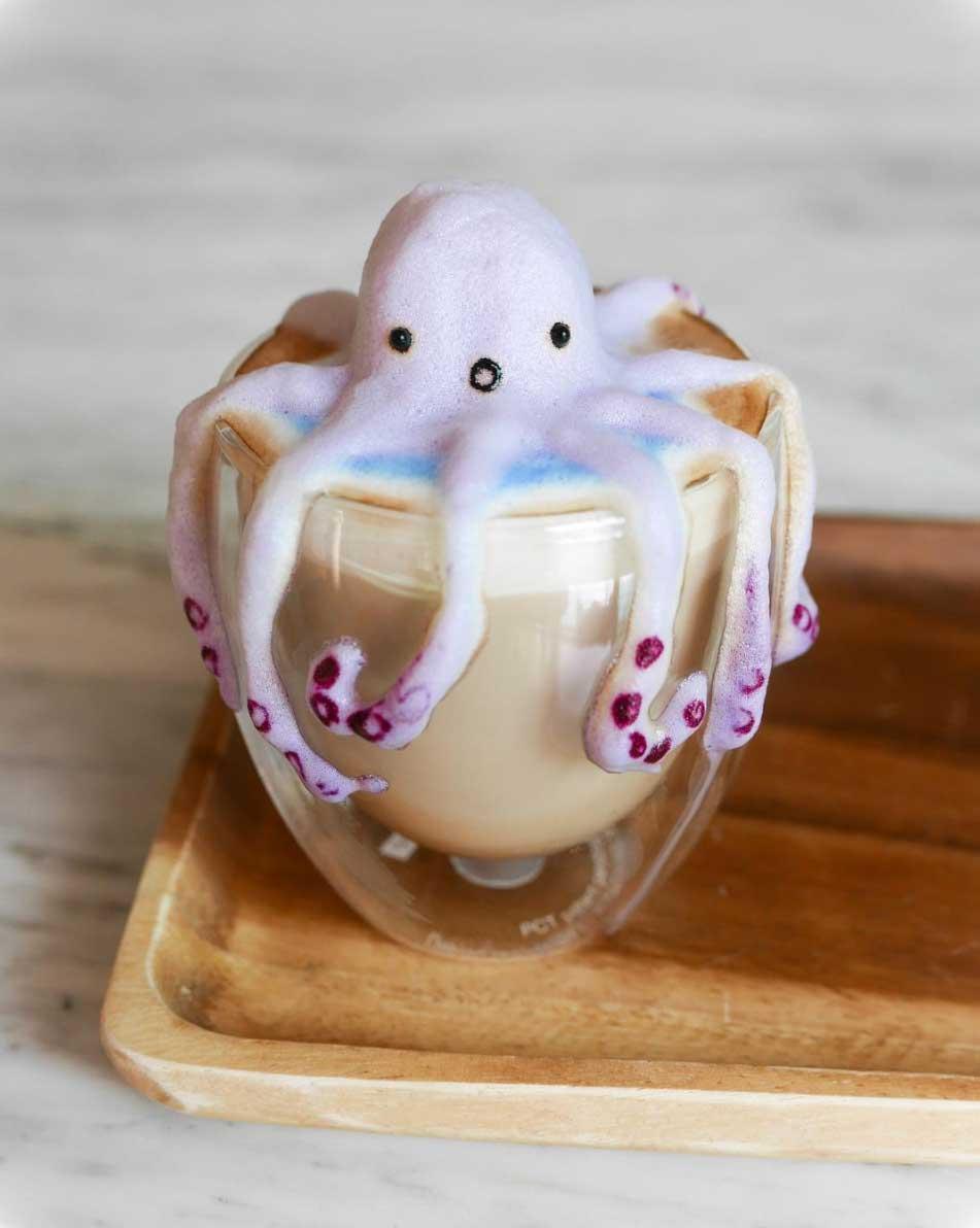 3D-Milchschaumkunst von Daphne Tan