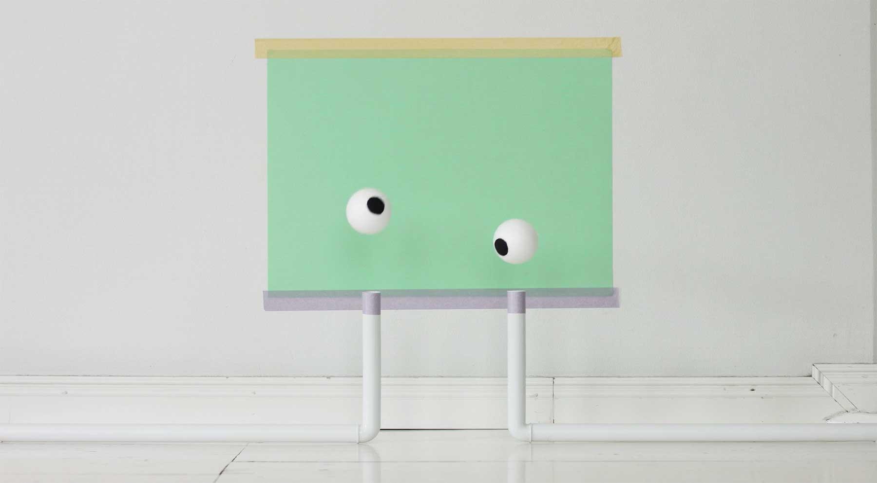 Kunstvoll Augen machen EYES-kunstinstallation-video