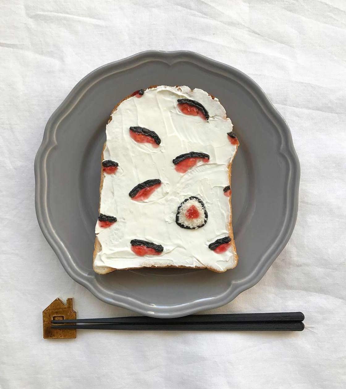 Trend aus Japan: Gemusterte Toastscheiben Eiko-Mori-Toast-art-foodporn_04