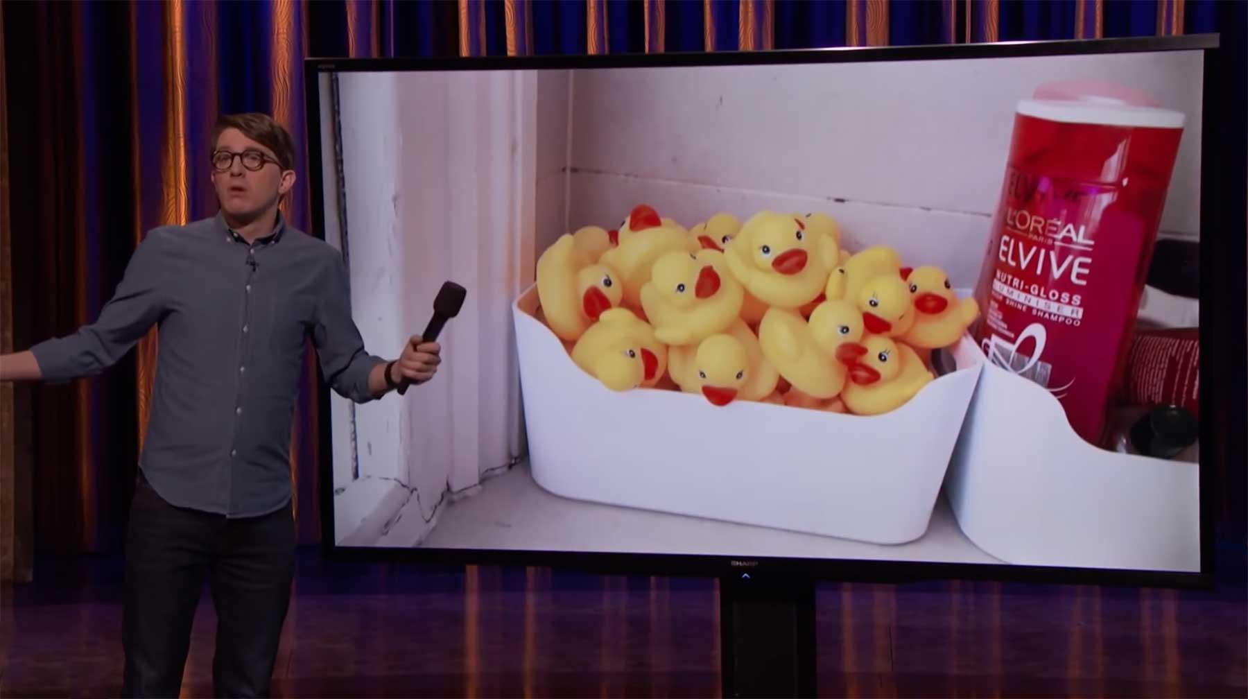 James Veitch und sein Mitbewohner-nervender Gummienten-Streich