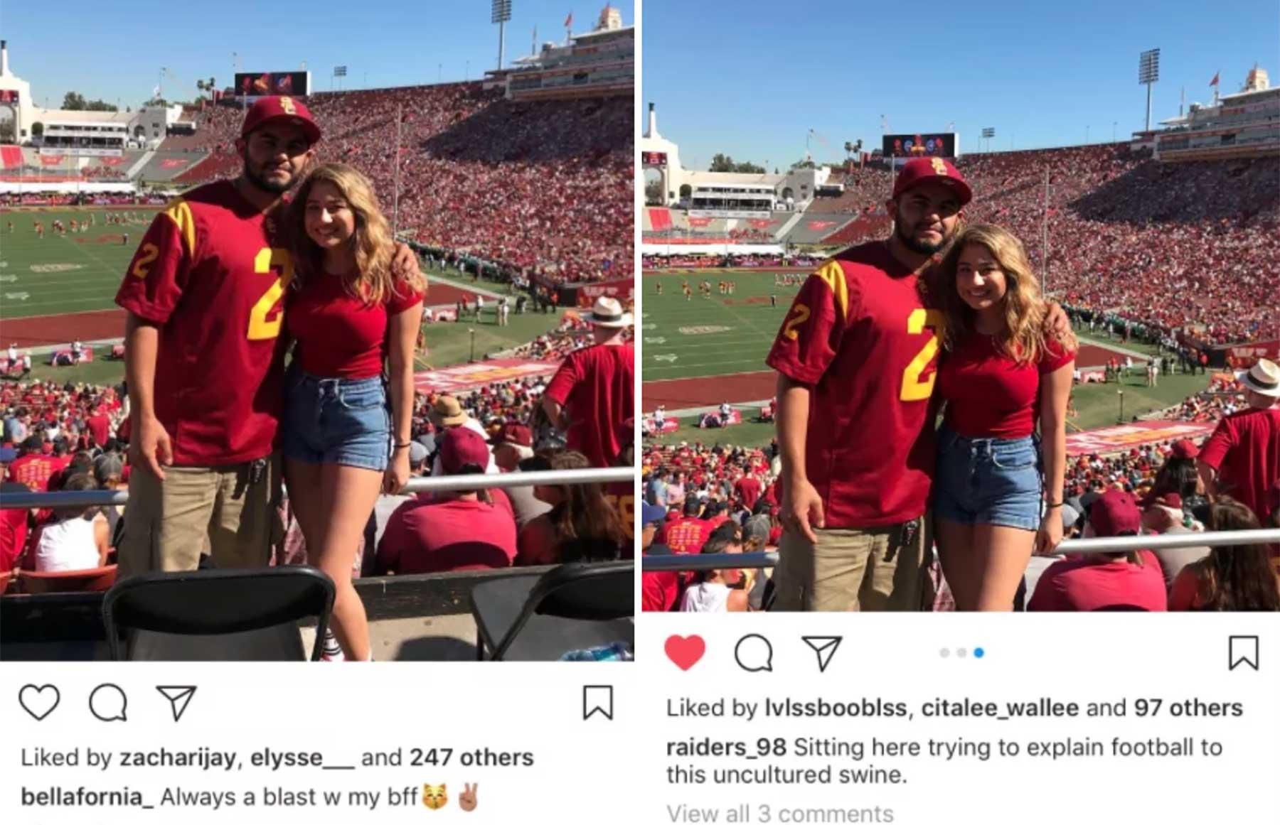 Wenn Freundin und Freund dasselbe Foto posten aber anders beschreiben