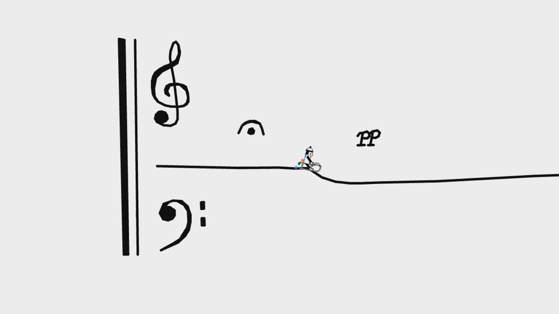 Line Rider synchron zur Musik