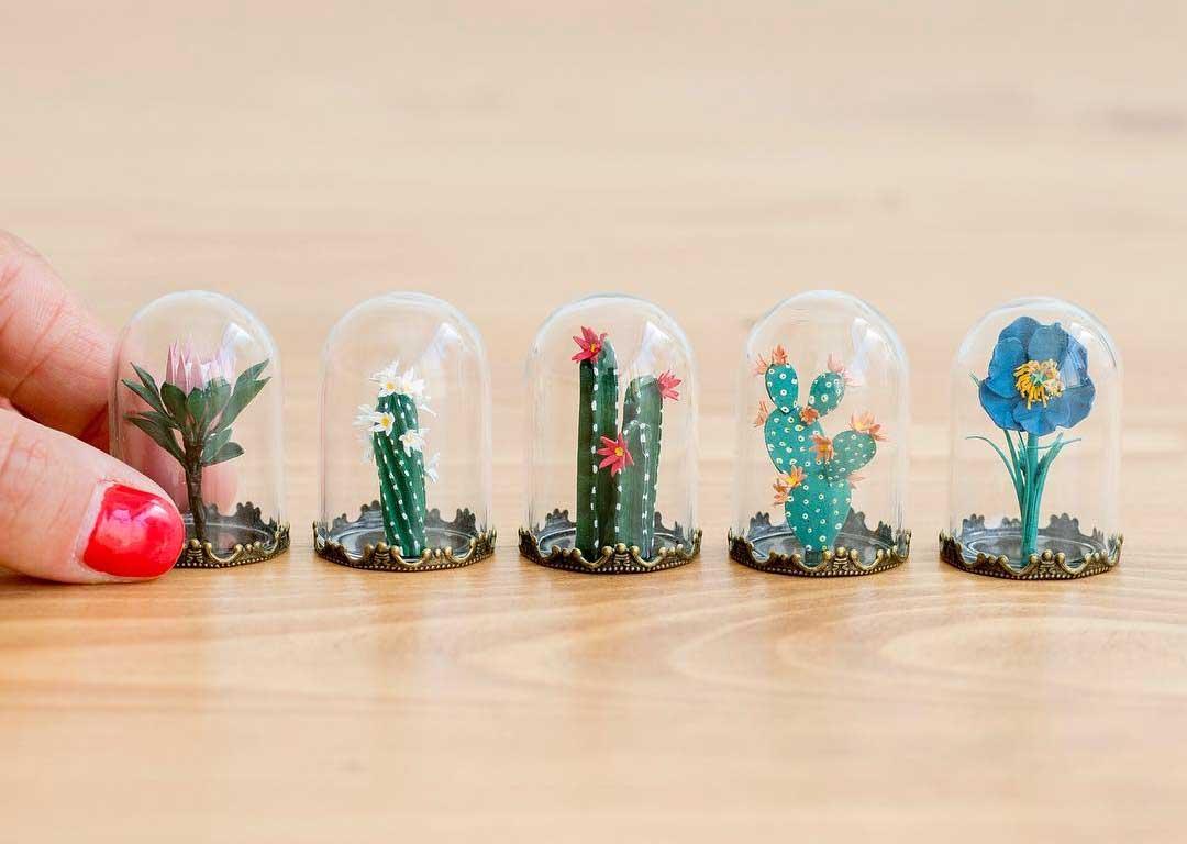 Miniatur-Papierpflanzen
