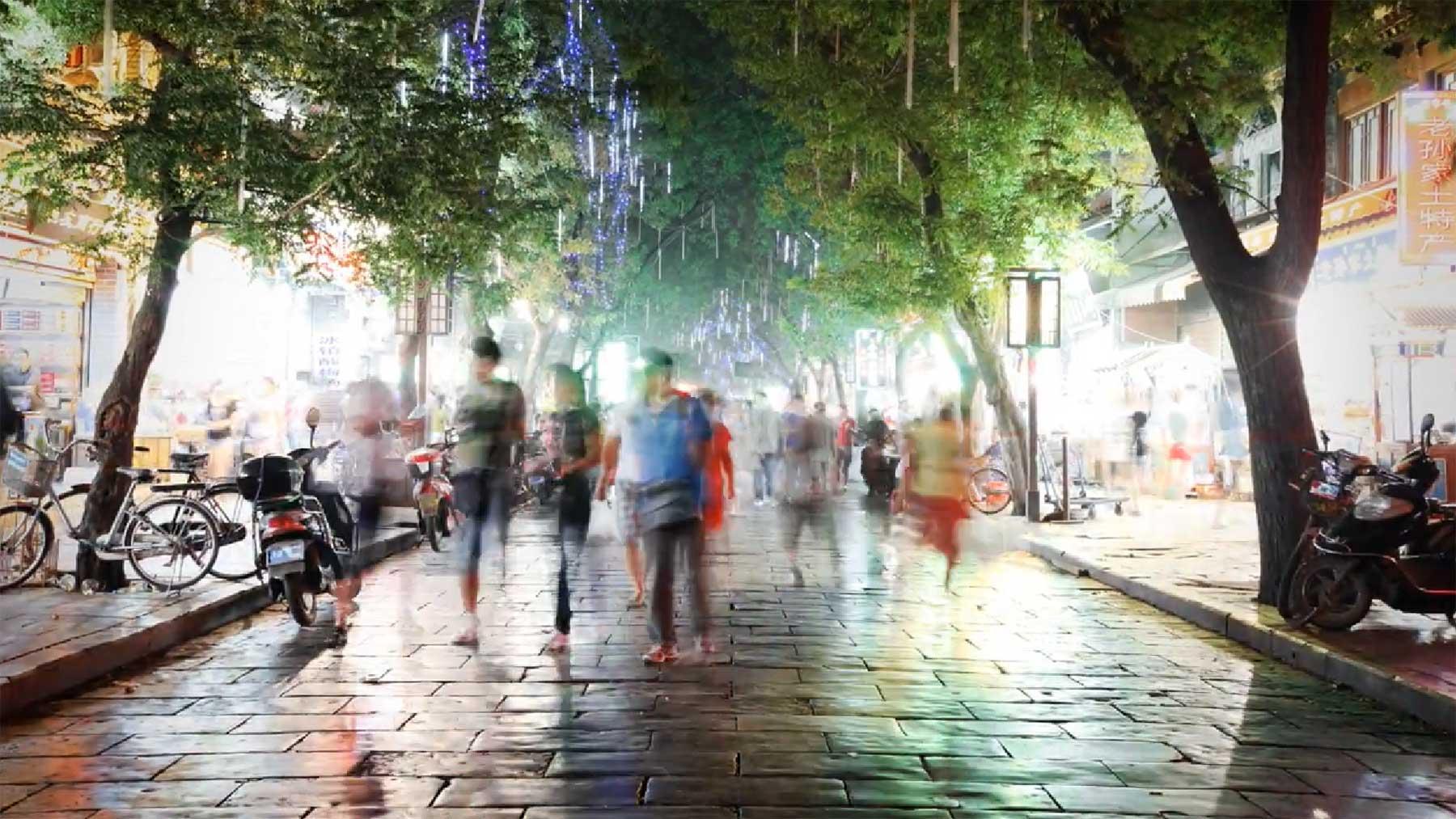 Timelapse von der Seidenstraße timelapse-silk-street
