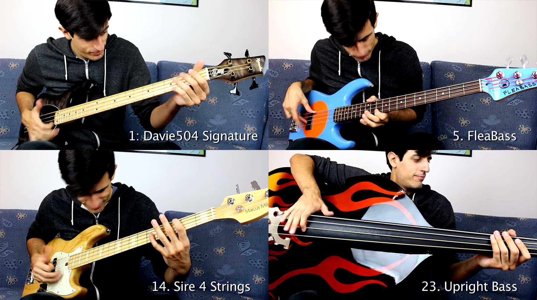 25 Bassgitarren, 1 Solo 25-bass-solo