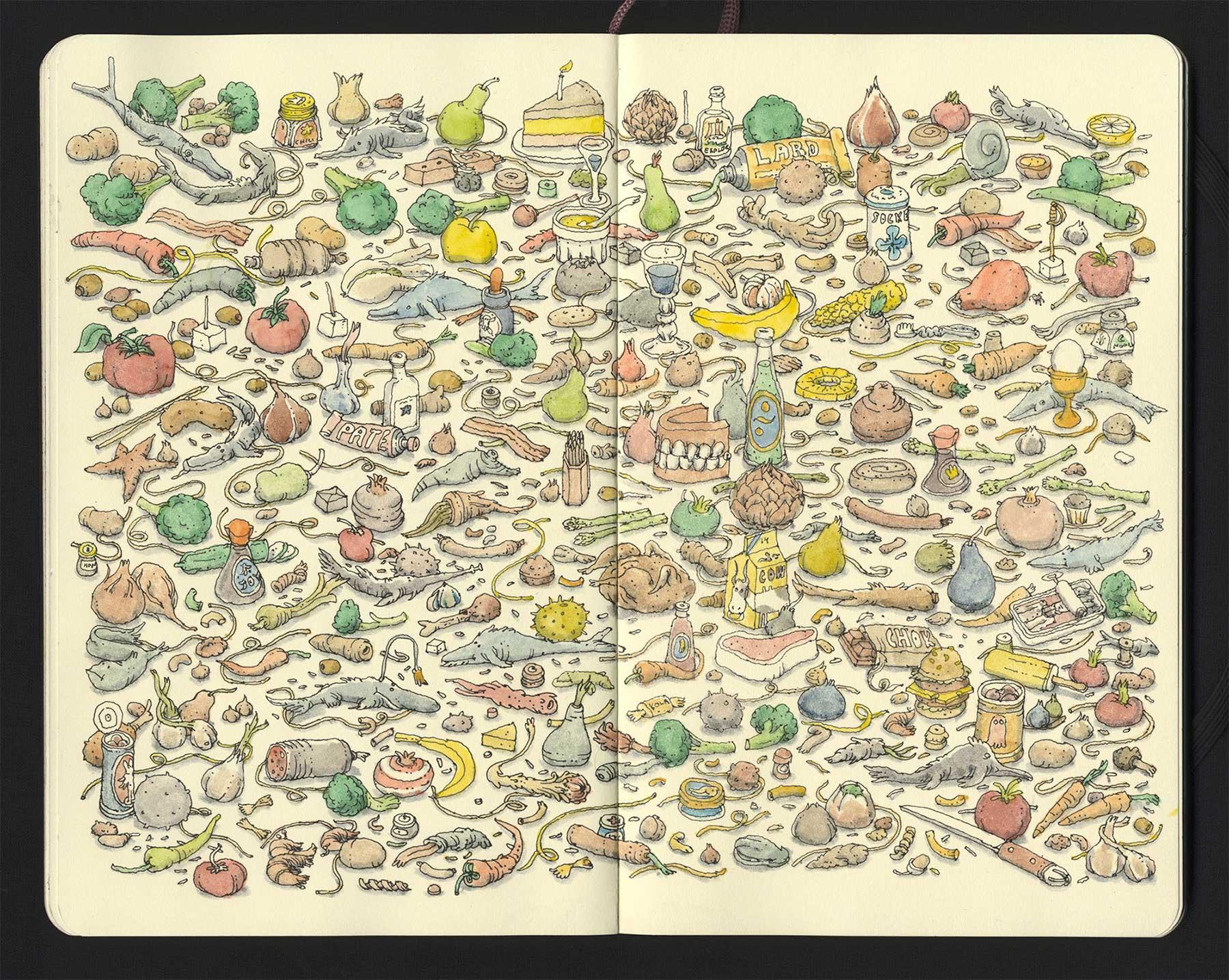 Noch mehr Notizbuchzeichnungen von Mattias Adolfsson