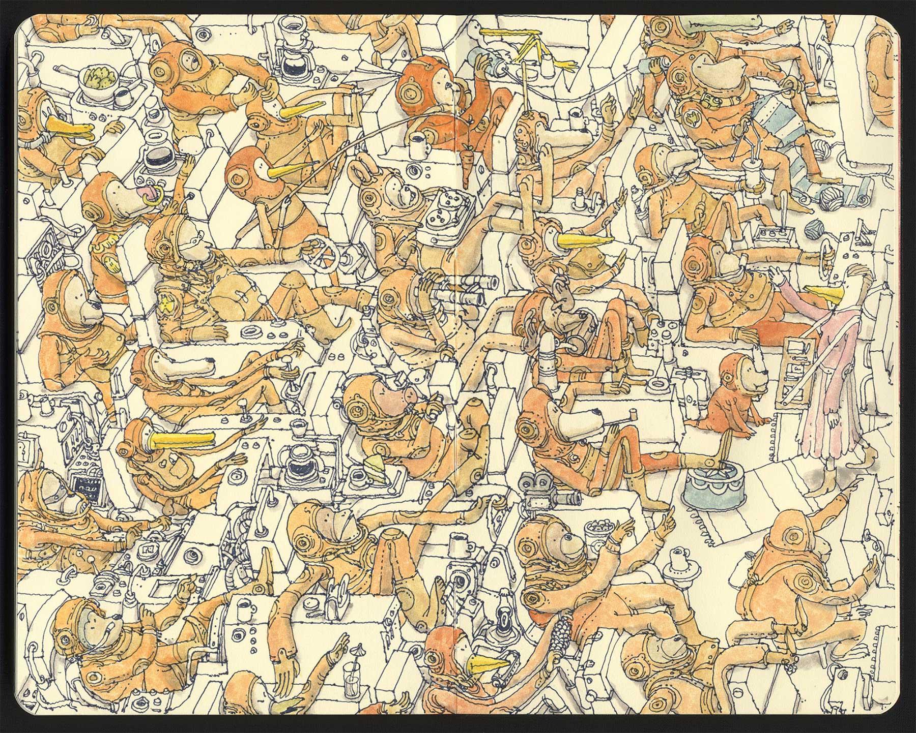 Noch mehr Notizbuchzeichnungen von Mattias Adolfsson Mattias-Adolfsson-Zeichnungen_04