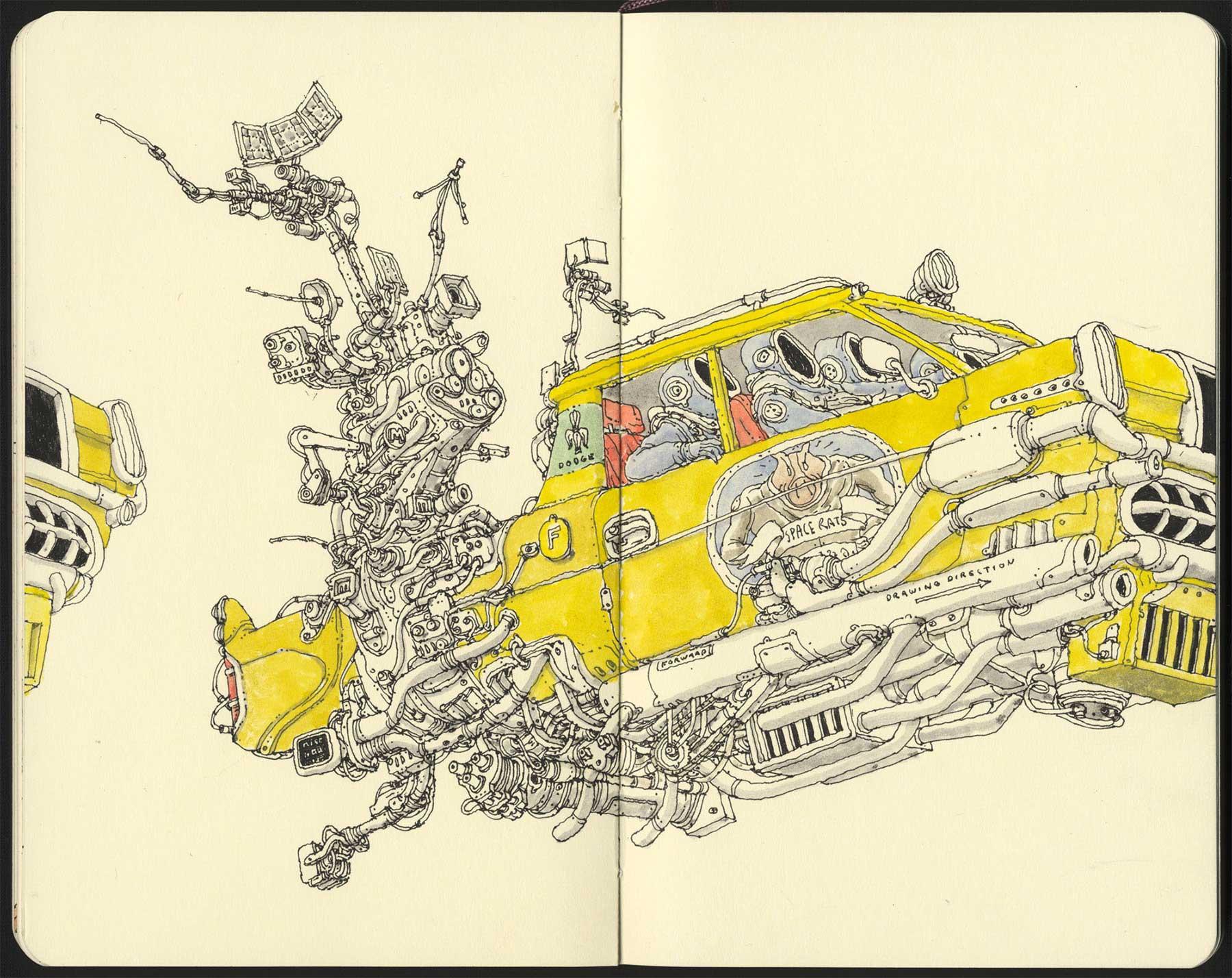 Noch mehr Notizbuchzeichnungen von Mattias Adolfsson Mattias-Adolfsson-Zeichnungen_05
