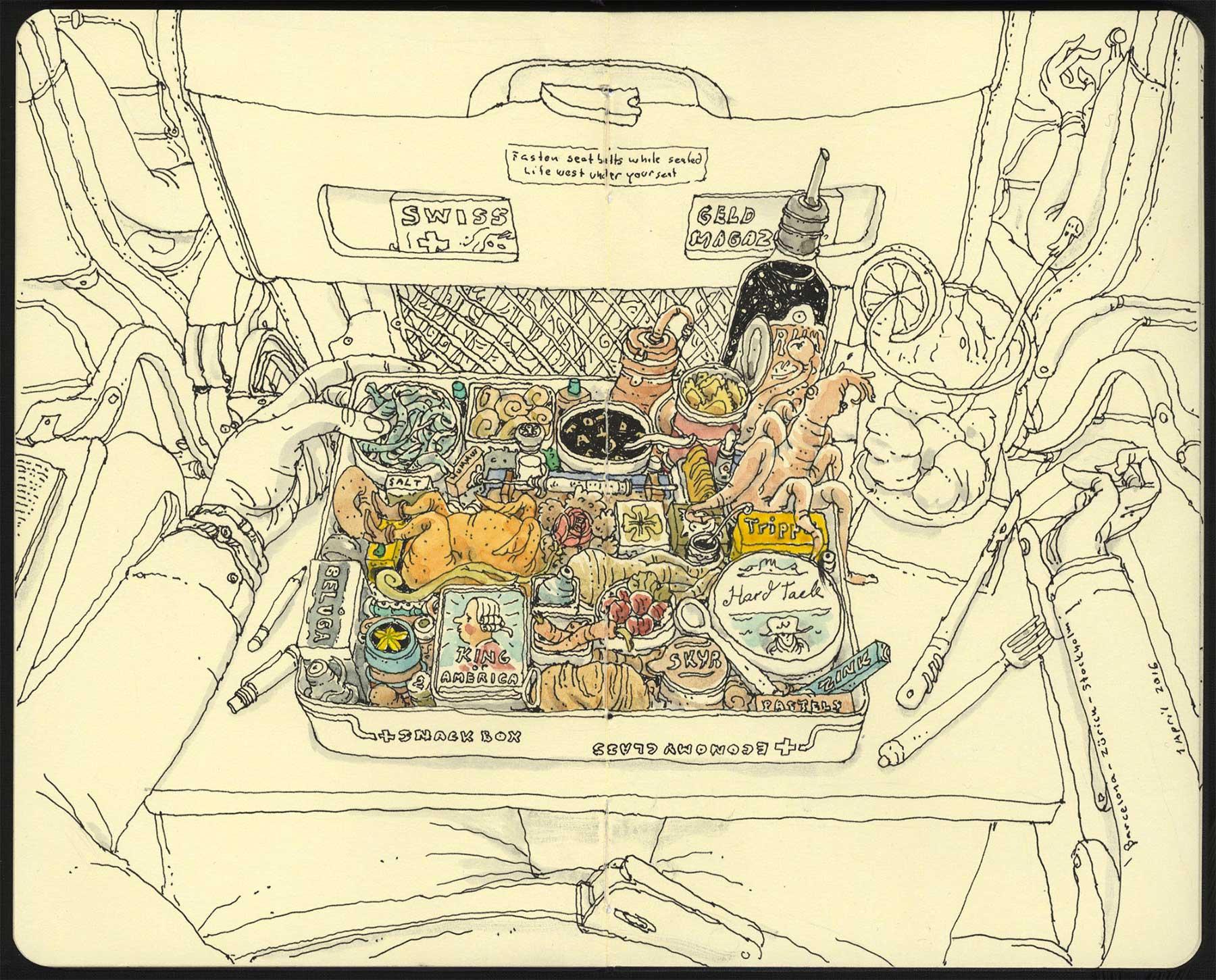 Noch mehr Notizbuchzeichnungen von Mattias Adolfsson Mattias-Adolfsson-Zeichnungen_06