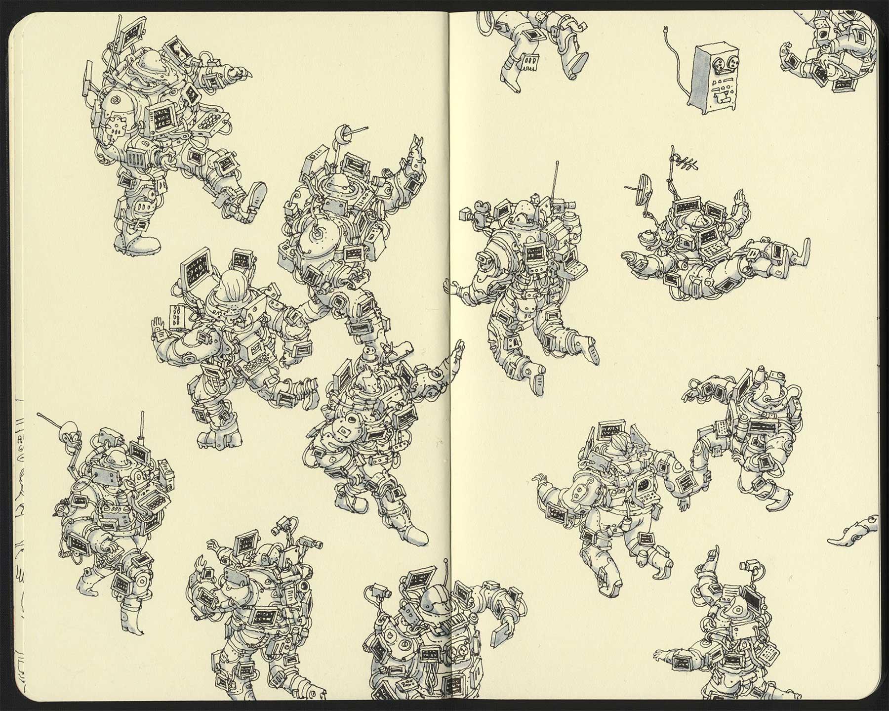Noch mehr Notizbuchzeichnungen von Mattias Adolfsson Mattias-Adolfsson-Zeichnungen_07