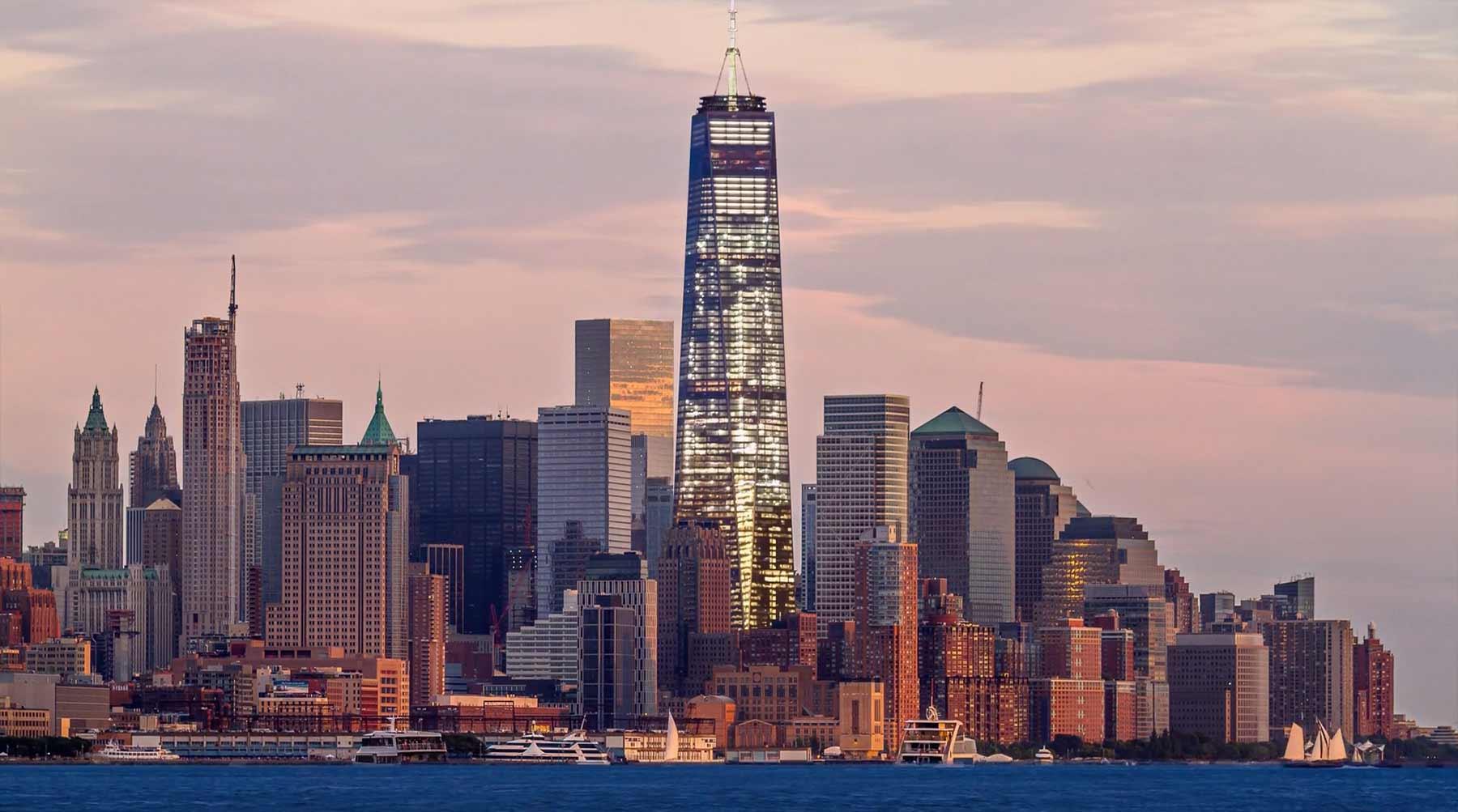 NYC gleichzeitig bei Tag und Nacht