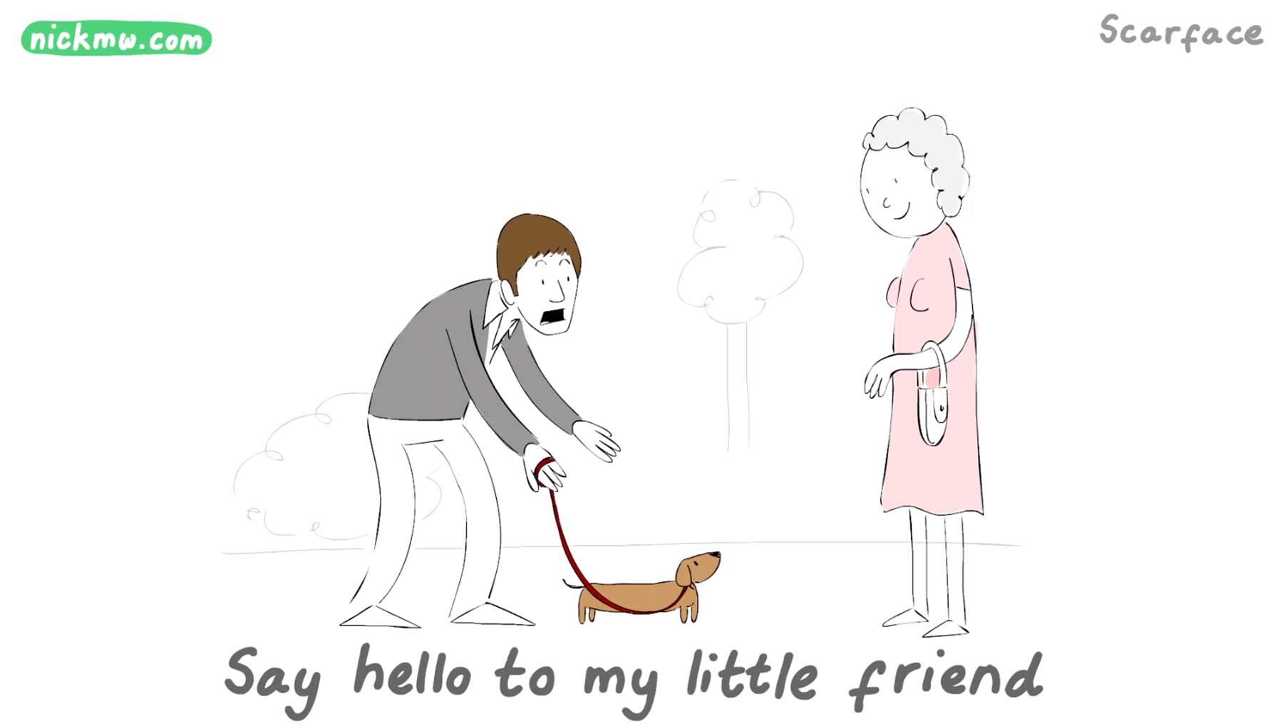 Bekannte Film-Zeilen humoristisch animiert