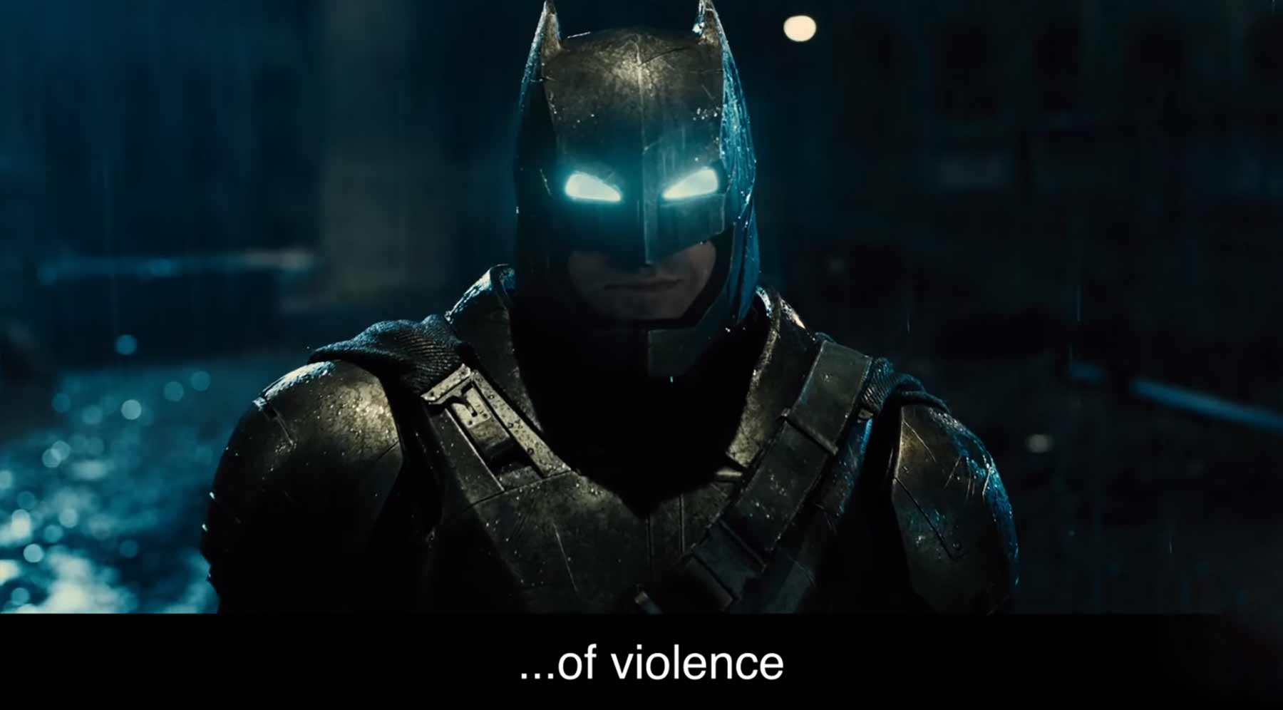 "Batman singt ""The Sound of Violence"""