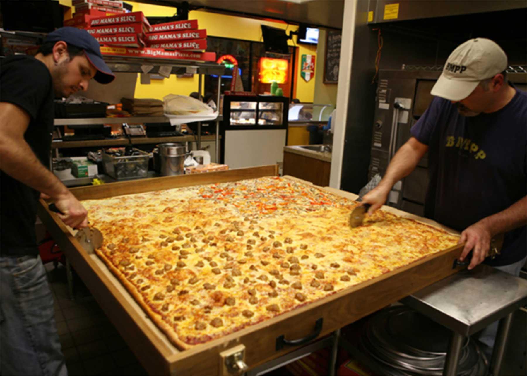 Die größte Lieferpizza der Welt