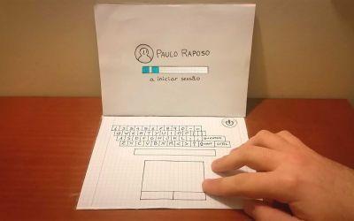 Animierter Papier-Laptop