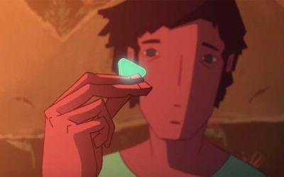 Animierter Psychodelischer Drogentrip