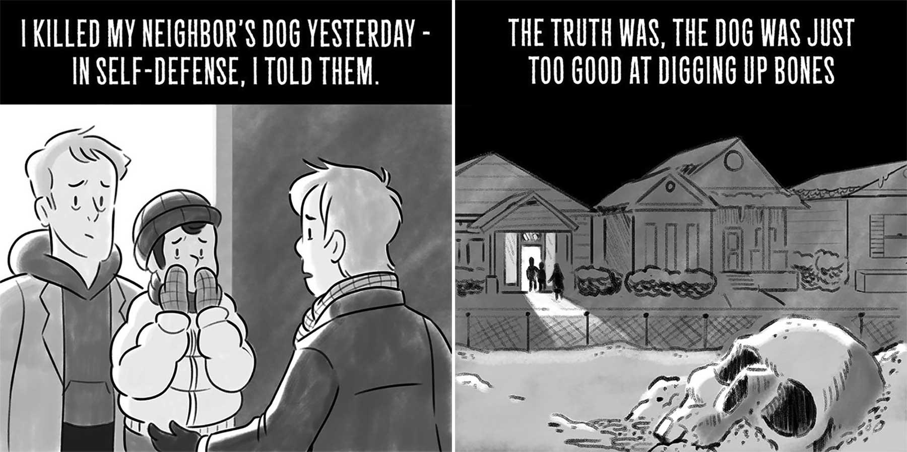 Horrorgeschichten in zwei Sätzen