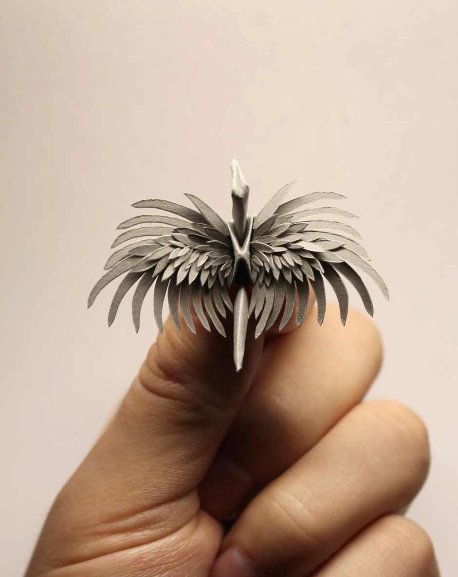 1.000 Origami-Kraniche Cristian-Marianciuc-origami-papierkraniche_06