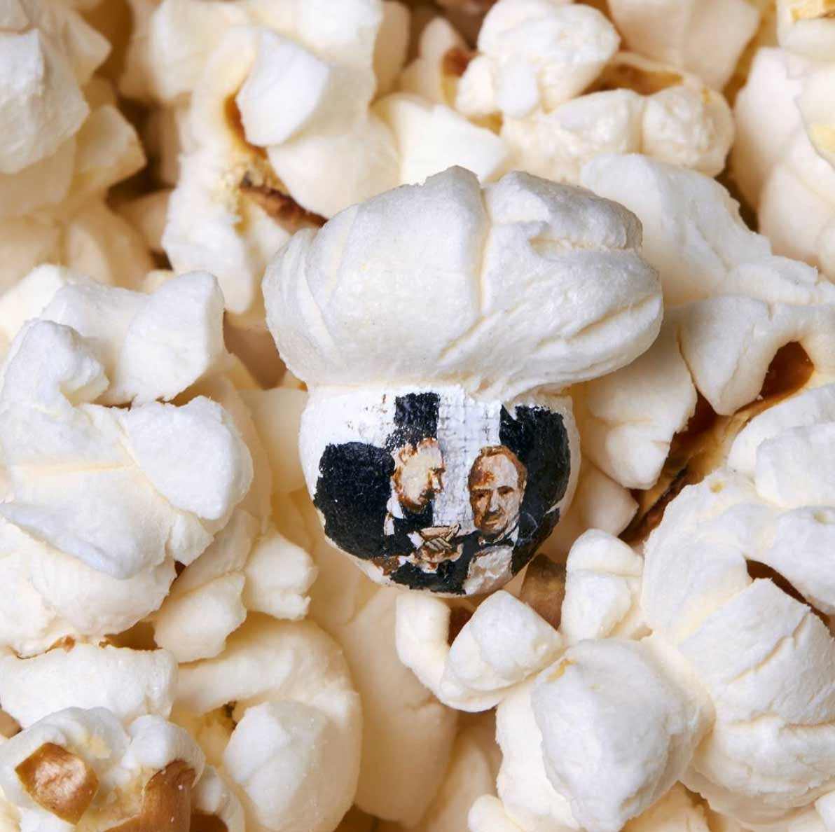 Filmmotive auf Popcorn gemalt Hasan-Kale-popcornmalerei_02