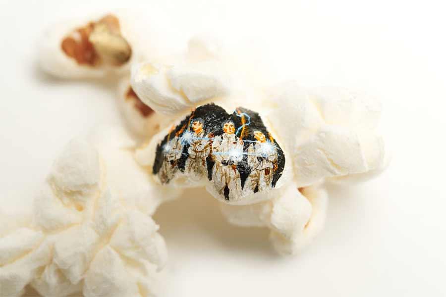 Filmmotive auf Popcorn gemalt Hasan-Kale-popcornmalerei_03