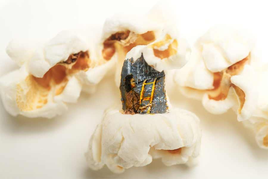 Filmmotive auf Popcorn gemalt Hasan-Kale-popcornmalerei_05