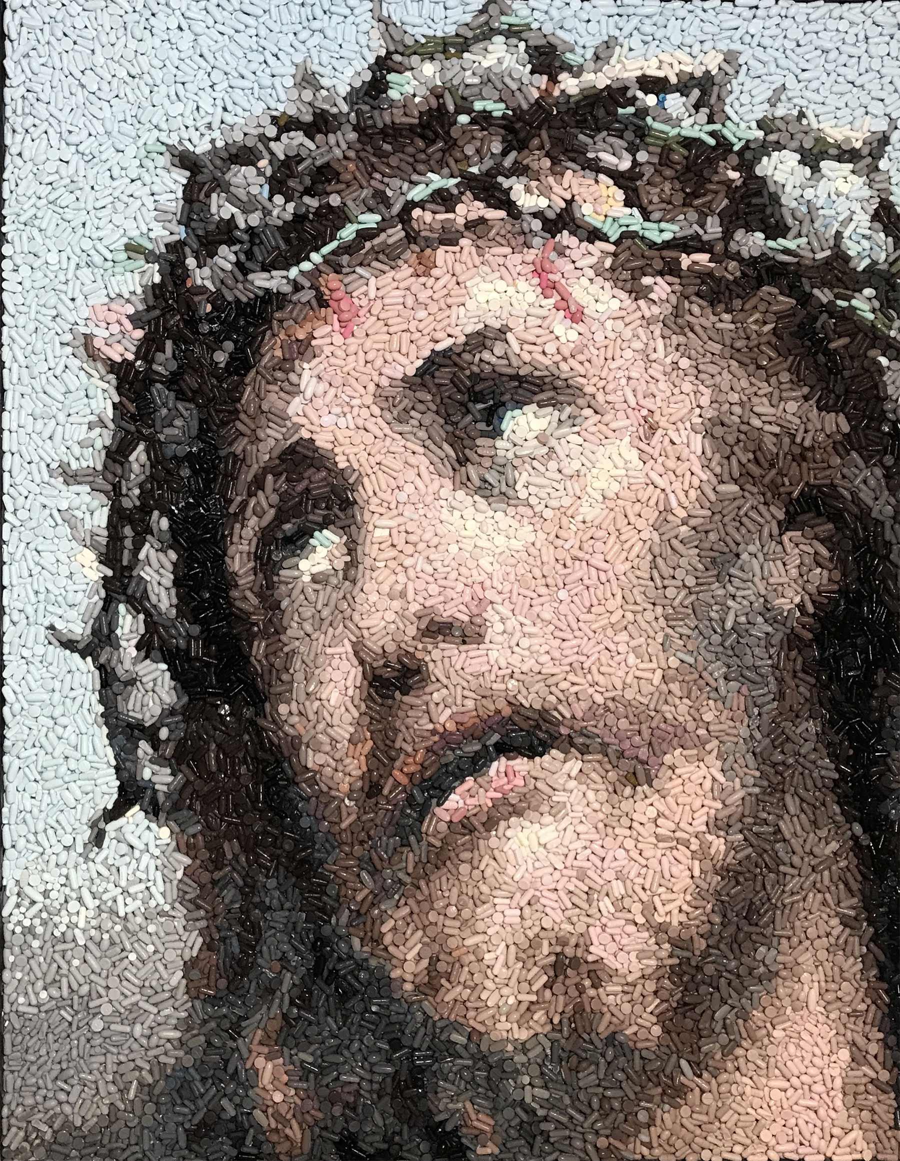 Mosaiks aus Tabletten, Münzen und Mittelfingern Kevin-Champeny-mosaik_02