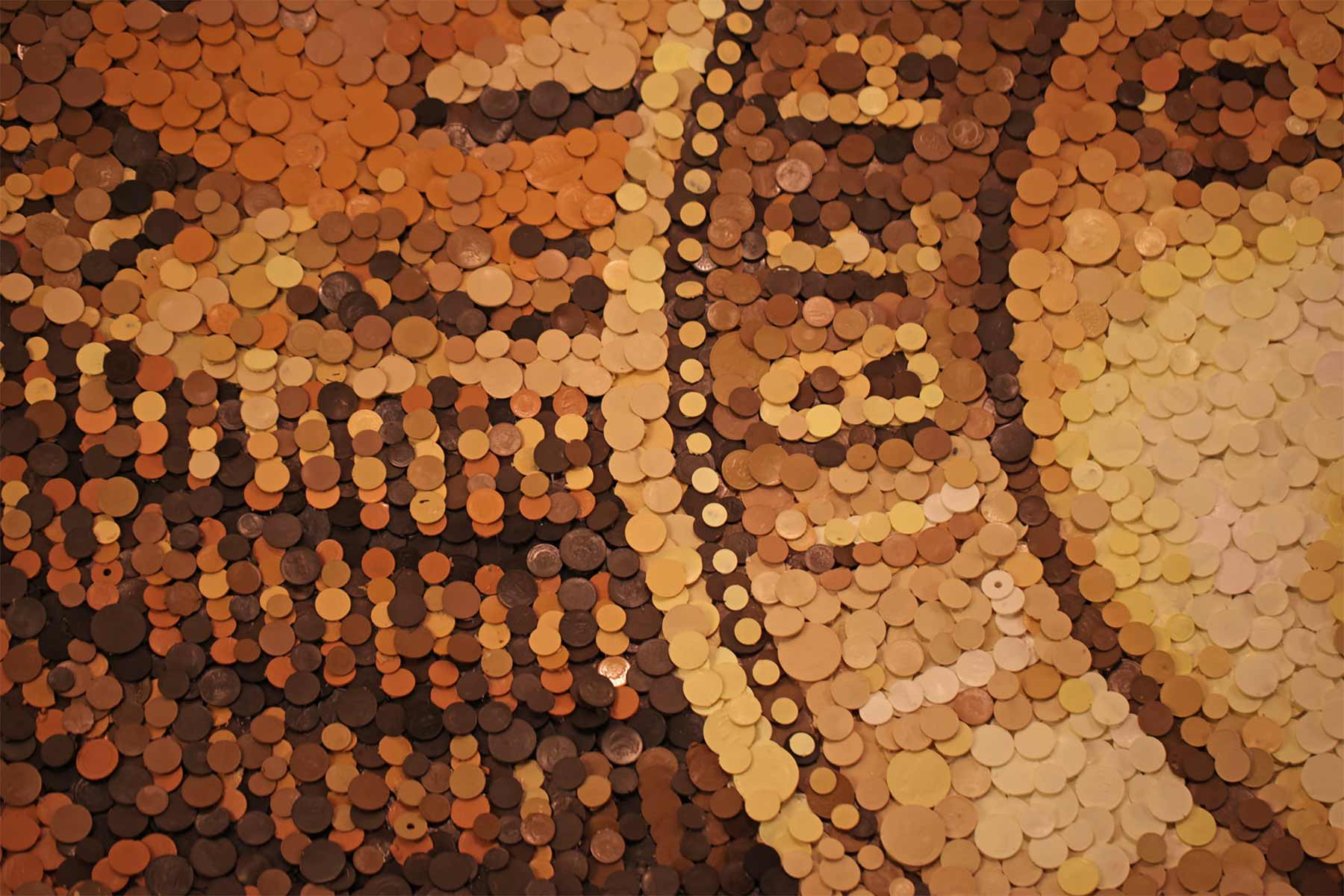Mosaiks aus Tabletten, Münzen und Mittelfingern Kevin-Champeny-mosaik_06