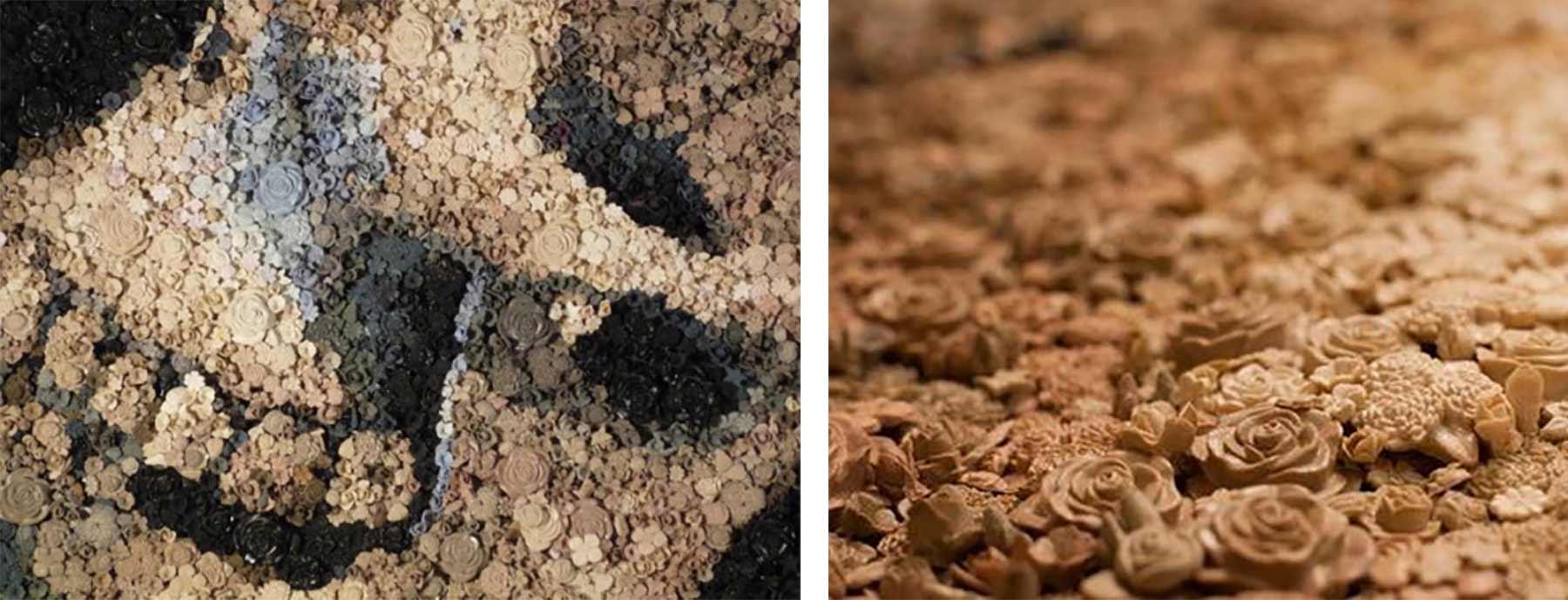 Mosaiks aus Tabletten, Münzen und Mittelfingern Kevin-Champeny-mosaik_09