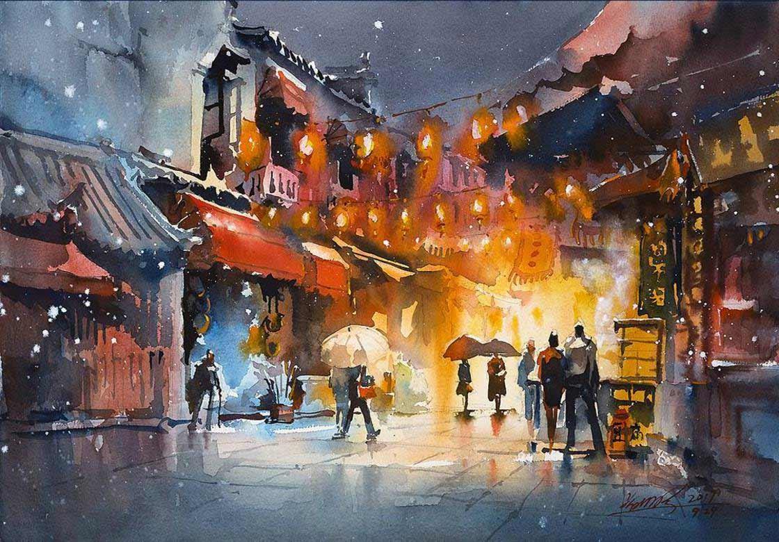 Malerei: Kwan Yeuk Pang