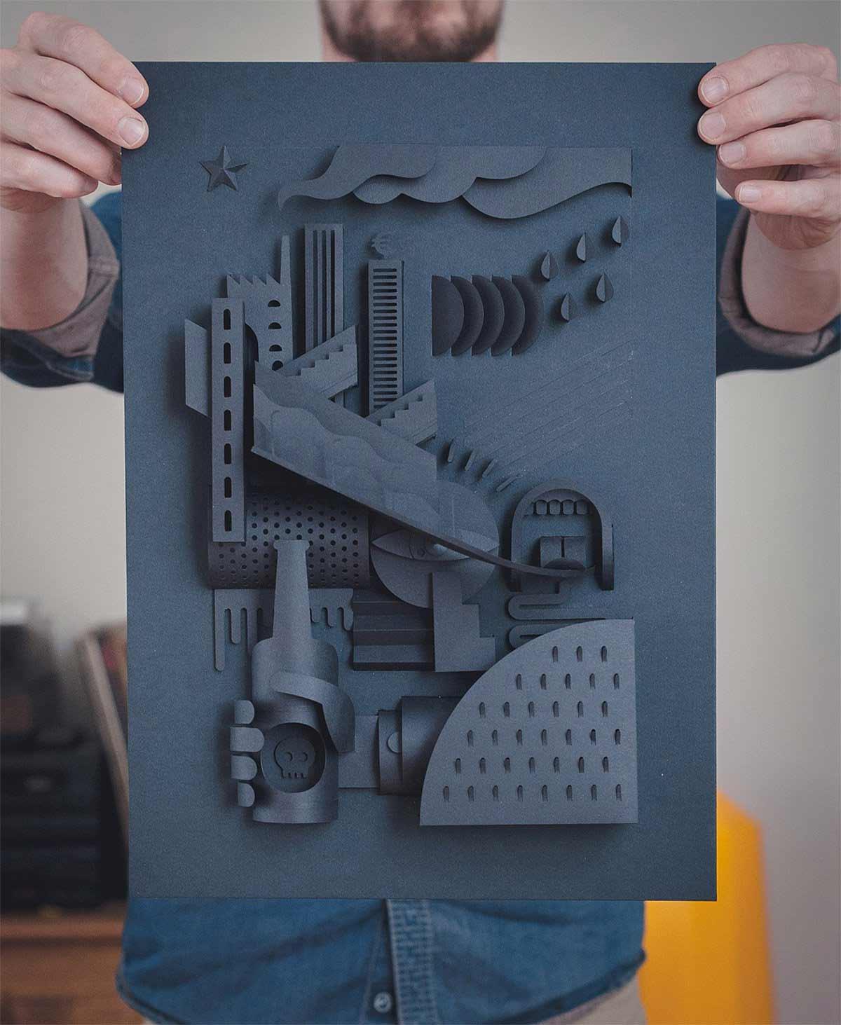 Papierkunst von Thibaut van Boxtel Papierkunst-Vebe-Thibaut-van-Boxtel_03